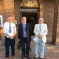 Cllr Martin Towler, Cllr Graeme Coombes and Cllr Roger Rigby outside Stewartby Town Hall